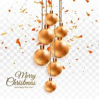 fond de boule de Noël brillant