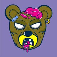 dessin animé animal ours zombie