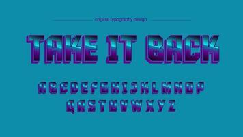 Typographie majuscule sport bleu chrome
