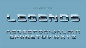 Typographie majuscule de sports de chrome de cru