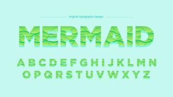 Conception de typographie abstraite vagues vertes