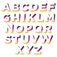 Typographie d'ombre colorée