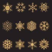 Collection de flocons de neige scintillants
