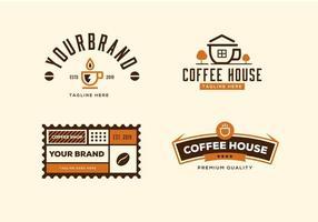 Ensemble de collection de café vecteur