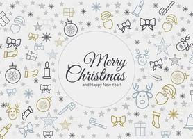 Fond de carte de beaux éléments de Noël