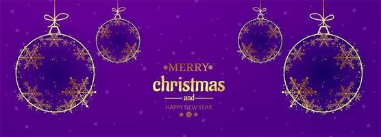 Fond de bannière magnifique Noël flocon de neige carte célébration