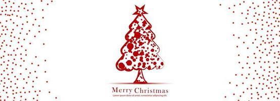 bannière de Noël pour vecteur de fond de carte arbre de Noël