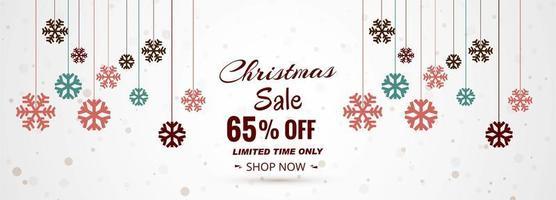 Bannière de vente joyeux Noël