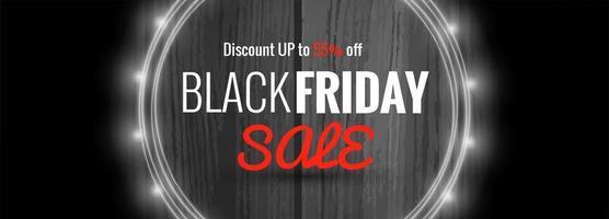 bannière d'élégance pour les ventes sur le modèle vecteur Black Friday