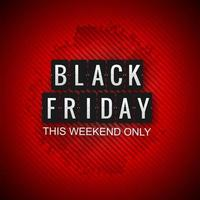 Fond de vente minimaliste noir vendredi