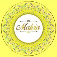 Frontière jaune de mandala
