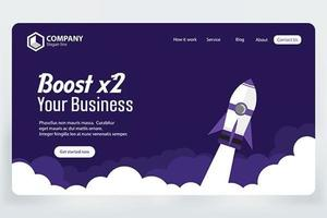Page de destination Boost Business Site vecteur