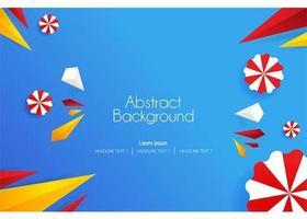 Illustrations vectorielles d'art abstrait funky 3d