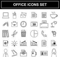 Ensemble d'icônes de bureau vecteur