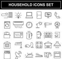 Ensemble d'icônes appareils ménagers vecteur