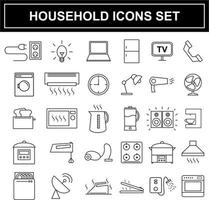 Ensemble d'icônes appareils ménagers