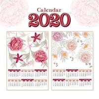 Calendrier Floral 2020