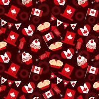 Modèle sans couture d'éléments de fête du Canada