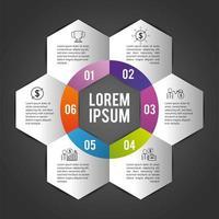plan d'affaires infographie avec lorem ipsum vecteur