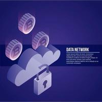 lié au réseau de données vecteur