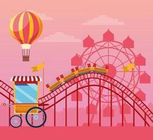 Carnaval avec des attractions amusantes