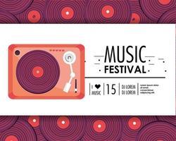 équipement de radio à la fête du festival de musique