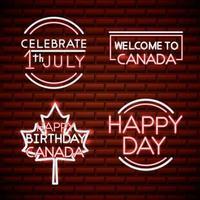 fête du canada néon