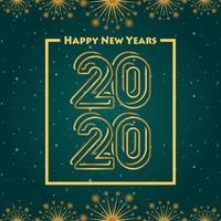 Bonne année 2020 fond de gradation vert
