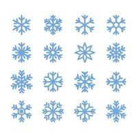 Icône de flocon de neige simple dans la conception de style de ligne sur fond blanc.