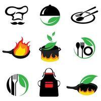 Variété d'icônes de cuisine vecteur