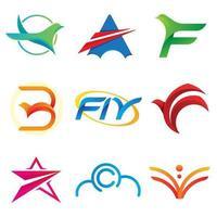Fly logo air de liberté. vecteur
