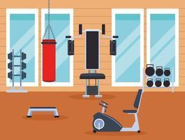 dessin animé de machines d'exercice