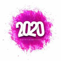 Conception de carte de voeux de bonne année 2020