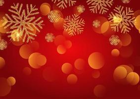 Fond de Noël avec des flocons de neige à paillettes