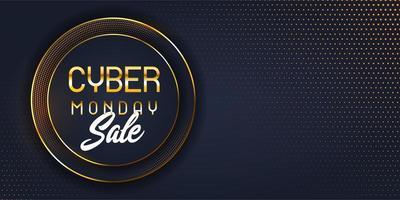 Bannière de vente cyber lundi moderne