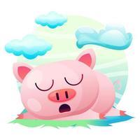 Carte de voeux Porc mignon