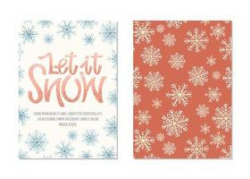 Cartes de voeux de Noël avec lettrage vecteur