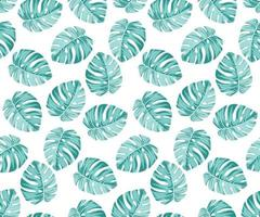 Motif Monstera bleu