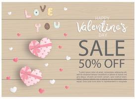 Affiche de vente de la Saint-Valentin vecteur