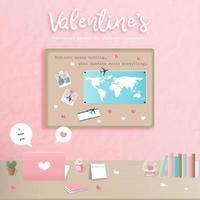 Concept de la Saint-Valentin pour les relations à distance vecteur