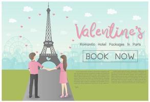 Concept de la Saint-Valentin pour Voyage vecteur