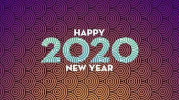 Bonne année 2020 fond vecteur