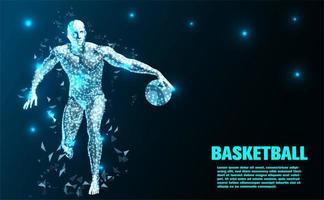 Joueur de basket-ball abstrait technologie vecteur
