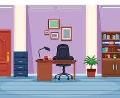 Lieu de travail de bureau vecteur