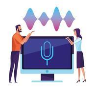 Personnes utilisant la reconnaissance vocale