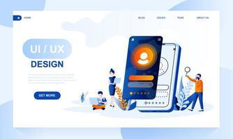 Modèle de page de destination de conception UX