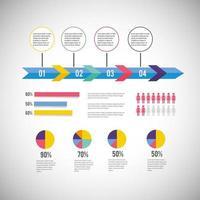 diagramme d'affaires infographique avec stratégie d'information