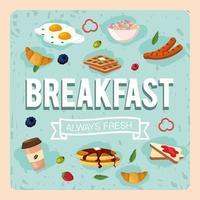 définir un petit-déjeuner sain avec des aliments riches en protéines vecteur