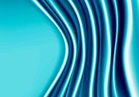 Tissu bleu satin vague avec fond espace vide. vecteur