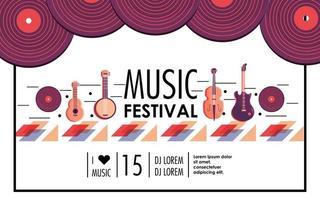 festival de musique événement à célébrer de divertissement vecteur